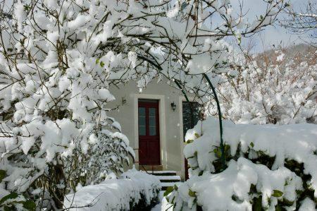 Sneeuw in de Morvan, een mooi winters plaatje van gîte Les Eduens