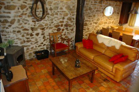 Woonkamer van vakantiehuis Obelix - Morvan Rustique