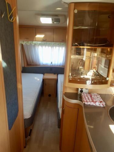 slaapkamer caravan